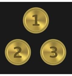 Golden award labels vector image