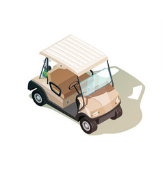 Golf cart isometric composition vector