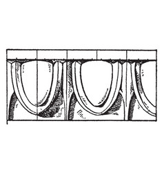 Greek egg-and-tongue moulding plaster vintage vector