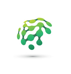 green brain logo vector image