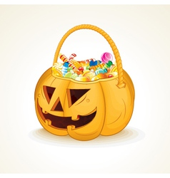 Halloween Pumpkin with Candies vector