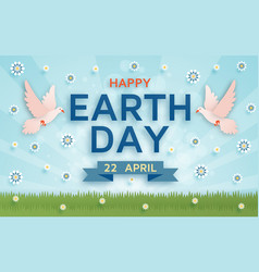 Happy earth day cute background vector
