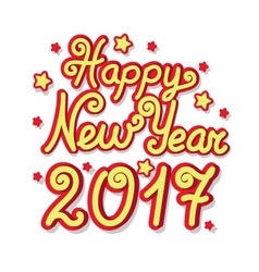 happy new year greeting inscription vector image