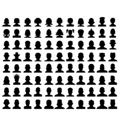 head silhouettes avatar vector image