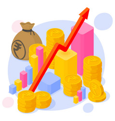 Indian rupee investment and saving vector