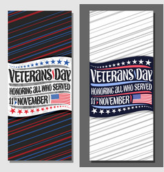 Layouts for veterans day vector