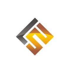 letter lw modern vector image