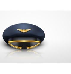 Light Background Aviator Peaked cap of the pilot vector