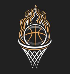 Logo for basketball vector
