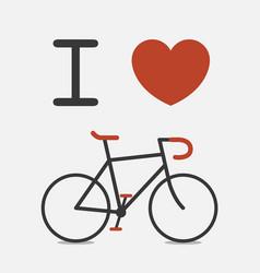 Love bike vector