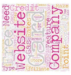 Make Money Sell Credit Cards text background vector