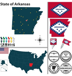 Map of Arkansas vector image
