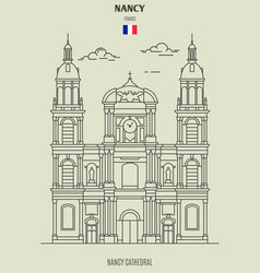 nancy cathedral in nancy vector image