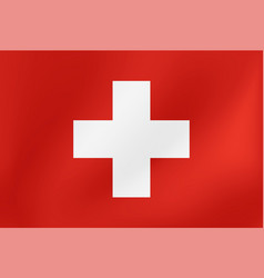 national flag switzerland for sports vector image