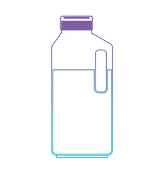 orange juice bottle in degraded purple to blue vector image