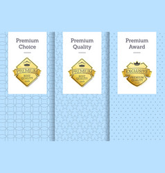 premium choice quality award vector image