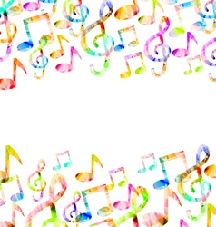 Rainbow Music Background vector image