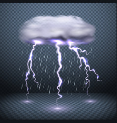 realistic falling rain background vector image