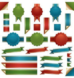 ribbons and emblems vector image