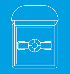 Ring in a gift box icon outline style vector