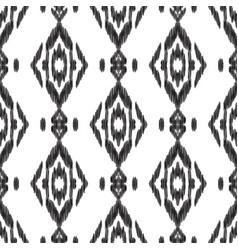 seamless pattern ikat wallpaper vector image