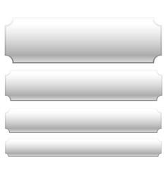 Set of rectangular banner button plaque vector
