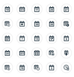 Set simple time icons vector