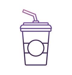 soda drink cup icon vector image