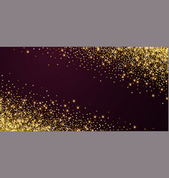 Sparkling gold luxury sparkling confetti scattere vector
