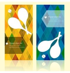Sport brochure beauty template cards Tennis vector
