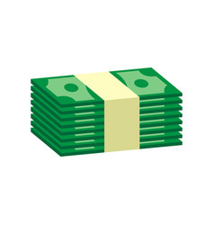 stacks dollar cash in flat design on white vector image