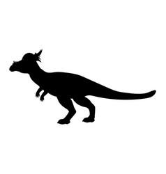 Stygimoloch silhouette dinosaur jurassic vector
