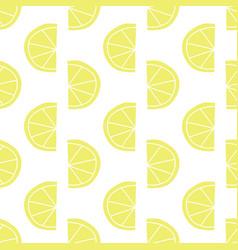 stylized lemon slices seamless pattern vector image