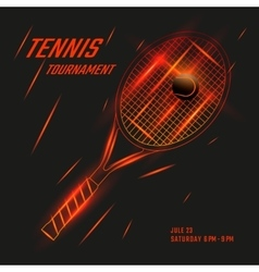Tennis poster design vector