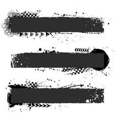 three black grunge frames vector image