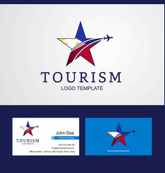 travel phillipines flag creative star logo and vector image