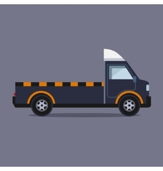 Truck for transportation faulty and emergency cars vector image