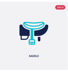 Two color saddle icon from wild west concept vector