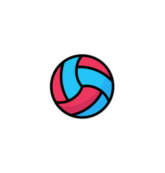valleyball outline ui web icon icon vector image