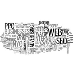 Web seo ppc nyc can capture you visotors text vector