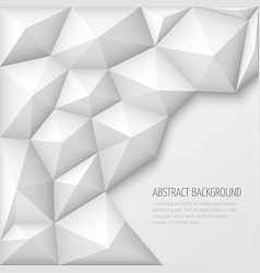 White 3d geometric abstract background vector
