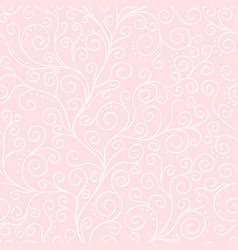 white liana on the pink seamless pattern vector image
