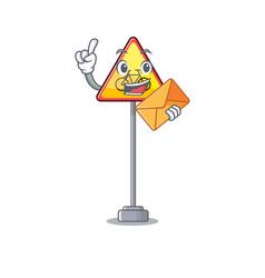 With envelope no cycling character shaped a mascot vector