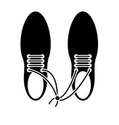 April fool shoelaces tied image pictogram vector