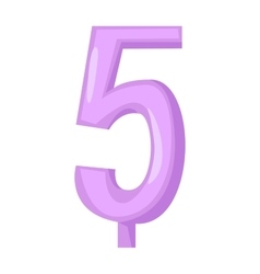 birthday number candles vector image vector image