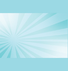 blue rays pop art comic background vector image vector image