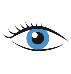 Eye with eyelashes vector image vector image