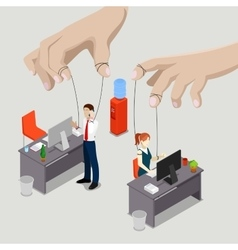 Isometric People Office Puppets vector image vector image