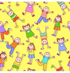 kids pattern vector image vector image