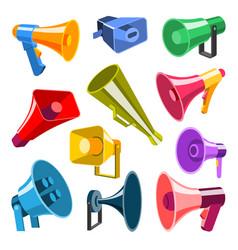 megaphone 3d style very hight voice volume speaker vector image